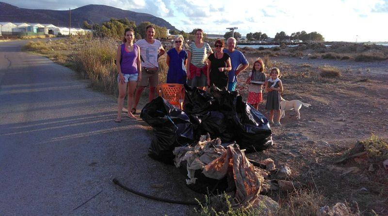 Kissamos Beach Cleaning team in Falasarna