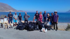 Beach Cleaning in Gramvousa Team
