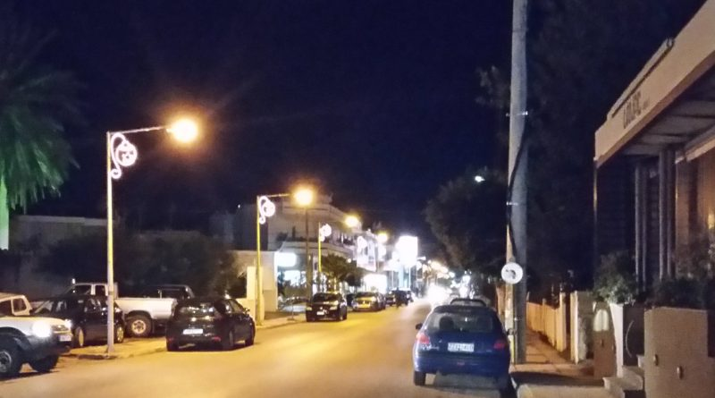 Christmas lights in Kissamos