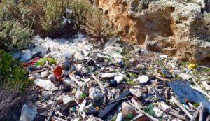 A sea of rubbish