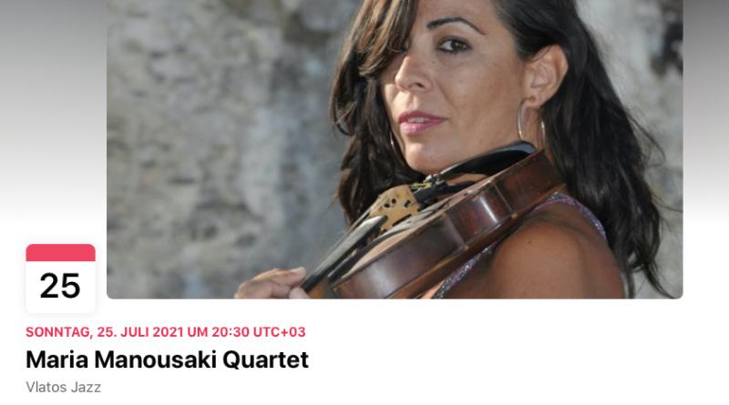 25 July Maria Manousaki quartet
